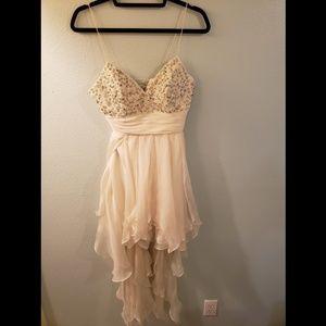 High Low Ivory White Dress